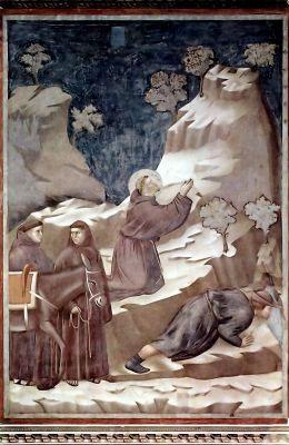 Джотто ди Бондоне. Цикл фресок о жизни св. Франциска Ассизского. Чудо св. Франциска с источником. 1296-1298 гг.