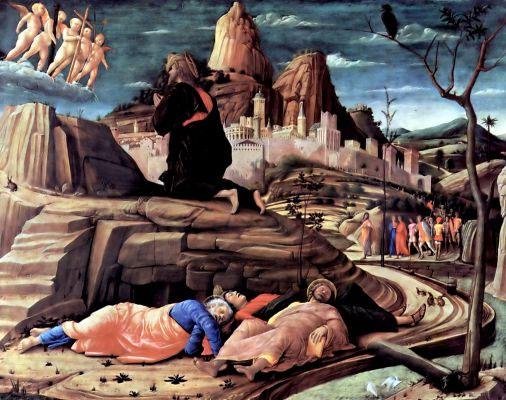 Андреа Мантенья. Христос в Гефсиманском саду. 1455 г.