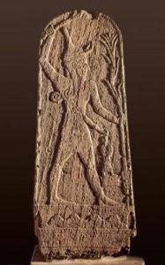 Рис. 3 Стела с изображением Бала, происходящая из Угарита.    19-18 вв. до н.э.