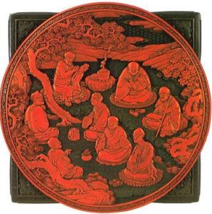 Рис. 2 Шкатулка с изображением восьми бессмертных.  Конец 18 в.
