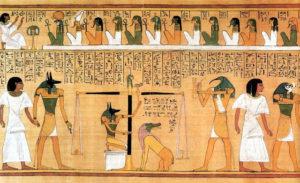 Рис.2  Книга мертвых Хунефера: глава 125.    Около 1310 г. до н.э.